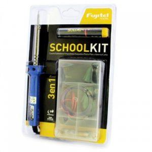 Kit Colegio Cautin+Soldadura+ Ampolletas+Soquetes+Cables y Portal Pilas