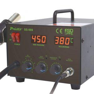 Estación de Soldar 2 en 1 / Cautín + Aire Caliente / 700 Watts Pro'sKit