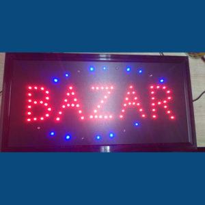 letrero led bazar