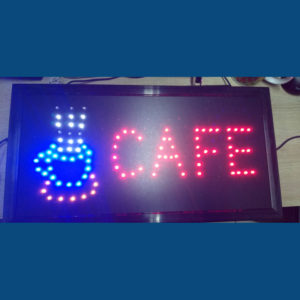 Letrero Led Cafe
