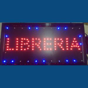 letrero led libreria