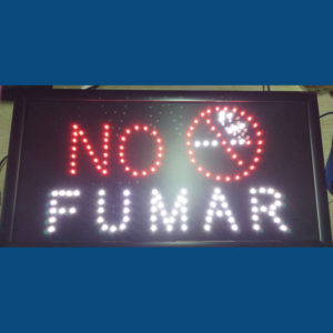 Letrero Led No Fumar