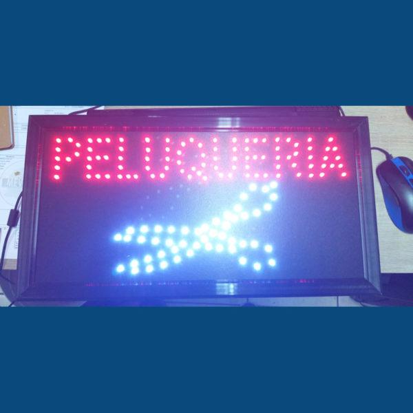 Letrero led Peluquería